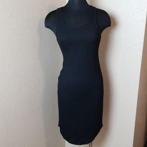 New Rachel Roy Black Ribbed Tank Dress